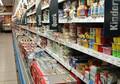 Einkaufsregal Supermarkt Lebenmittel